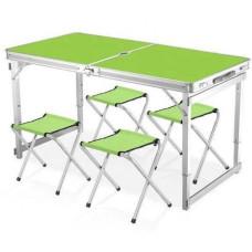 Стол для пикника усиленный 120 х 60 см с 4 стульями Folding Table