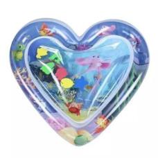 Надувной игровой развивающий детский водный коврик сердце