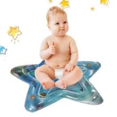 Надувной игровой развивающий детский водный коврик Звезда