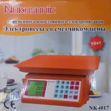Торговые весы Nokasonic NK-4017