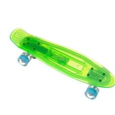 Скейт Пенни борд P850 прозрачная дека и колеса светящие
