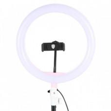 Кольцевая LED лампа 26 см Ring Fill Light с держателем для смартфона