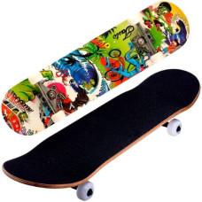 Трюковый деревянный скейтборд 835 с канадского клена из 9 слоев freaks
