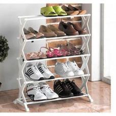 Полка органайзер для обуви подставка Shoe rack для обуви 5 полок на 15 пар