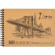 Альбом-блокнот (скетчбук) на спирали для эскизов Arthen 34см х 25см