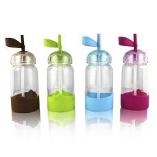 Детская бутылочка поилка с трубочкой и силиконовым держателем
