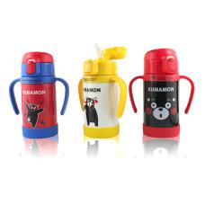 Детская бутылочка для воды с ручками и поилкой KUMAMOM