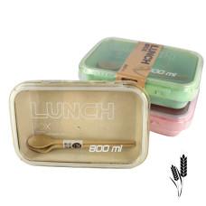 Ланчбокс c ложечкой и вилкой из экологического сырья Lunch Box