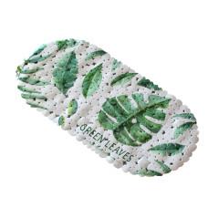 Банный коврик антискользящий резиновый  Green leaves
