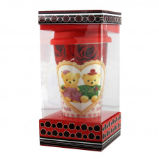 Кружка с силиконовой крышкой в подарочной упаковке Love Bears