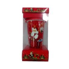 Кружка с силиконовой крышкой в подарочной упаковке Merry Cristmas