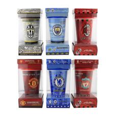 Кружка с силиконовой крышкой в подарочной упаковке Football Clubs