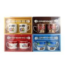 Подарочный набор из 2х чашек и ложек Brands