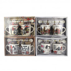 Подарочный набор из 2х чашек и ложек London