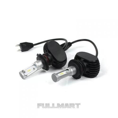 Комплект LED ламп HeadLight S1 H7 6000K 4000lm с радиатором CG02
