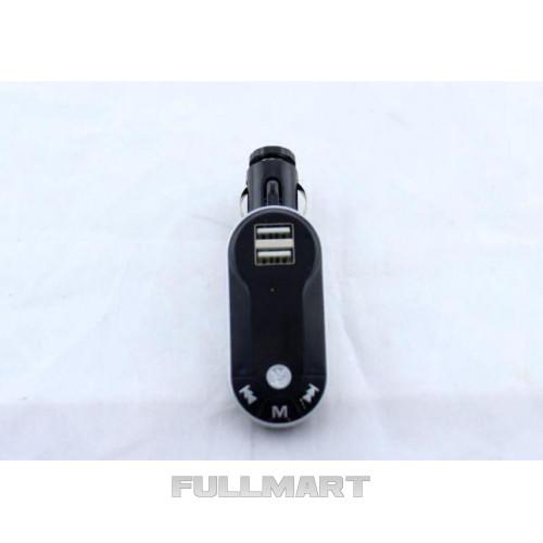 Трансмитер FM MOD. CM I9/2U, FM-модулятор с зарядкой  для телефона от прикуривателя и от сети