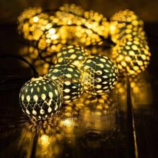 Гирлянда светодиодная Золотые шарики 20 led цвет теплый, прозрачный провод