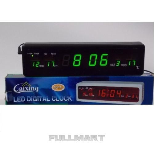 Настольные часы с подсветкой CX 808 green, Электронные часы, будильник, настольные часы  CG10