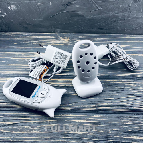 Видеоняня Baby Monitor VB - 601 на аккумуляторах с двусторонней связью, мелодиями и термометром CG01