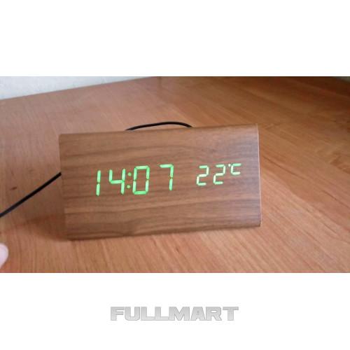 Часы электронные зеленые цифры. VST 862-4 Green clock 15 x 7 x 4 CG10