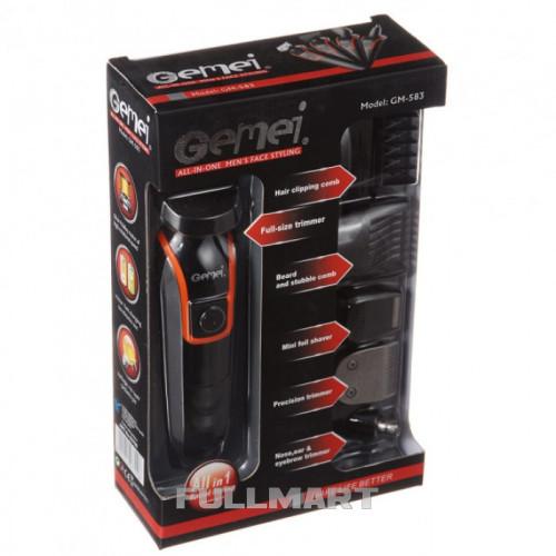 Беспроводная Машинка для стрижки волос Gemei GM-583 6 в 1
