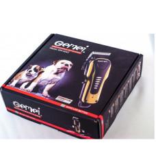 Беспроводная аккумуляторная машинка для стрижки волос шерсти животных GEMEI PRO GM-6063 CG21