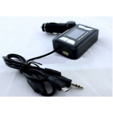 FM-модулятор трансмитер FM MOD. 151/ED 48, с зарядкой  для телефона от прикуривателя и от сети