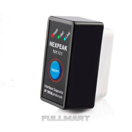 Диагностический OBD2 сканер ELM327 NX101, Bluetooth v1.5