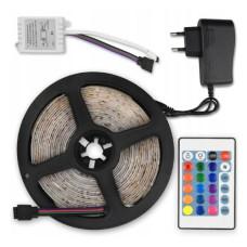 Светодиодная LED лента 5050 RGB в силиконе с пультом