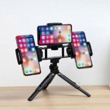 Мини-трипод Live Multi Clip с 3-мя держателями для телефона Черный