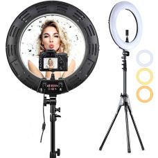 Кольцевая LED лампа на штативе RING высота 2м, диаметр лампы 26см, для блогера