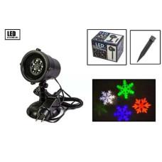 Лазерный проектор снежинка цветная s105