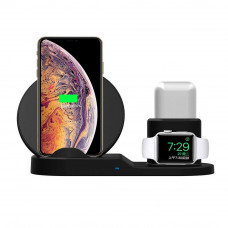 Док станция wireless fast charger 3in1