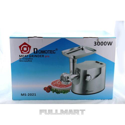 Электрическая мясорубка Domotec MS 2021, Мясорубка 3000W, Электромясорубка в металлическом корпусе