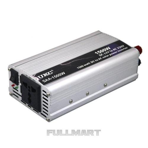 Инвертор преобразователь напряжения автомобильный UKC 1500W (004886)