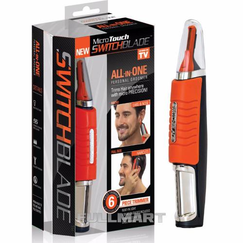 Универсальный триммер Micro Touch Switchblade Черный с оранжевым