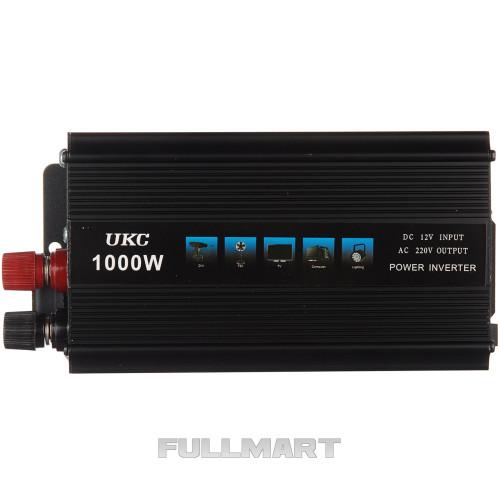 Инвертор-преобразователь UKC AC/DC с 12 на 220 вольт 1000 W SSK (14836)